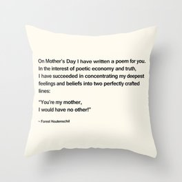 Mothers Day V Throw Pillow