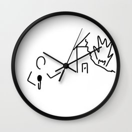 journalist watch TV disaster Wall Clock