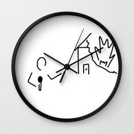 journalist watch TV disaster Wall Clock