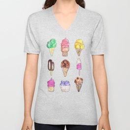 Ice Cream Flavors Unisex V-Neck
