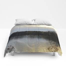 Downeast Autumn Reflections of Scattered Illuminations Comforters