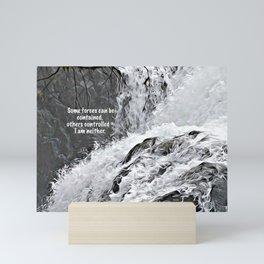 Englishman River Falls and Poem Mini Art Print