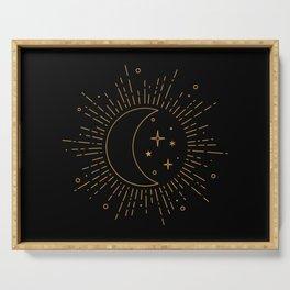 Celestial Sun, Moon & Stars Serving Tray