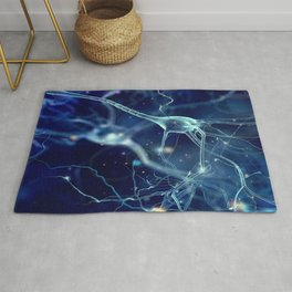 NEURON CELLS MICROSCOPIC VIEW PHOTO IMAGE MEDICAL LABORATORY SCIENTIST Rug