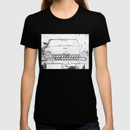 Cool Vintage car sketch art design T-shirt