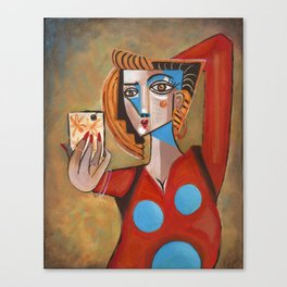 I'm Adorable Picasso Style Selfie Canvas Print
