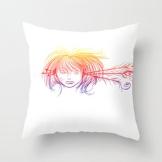 Arrow Head (Yellow/Red/Blue) Throw Pillow