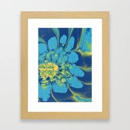 Large Blue Flower Framed Art Print