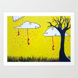 Hung-Up Art Print