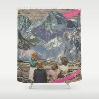 rocks Shower Curtains featuring Rocks by Sarah Eisenlohr