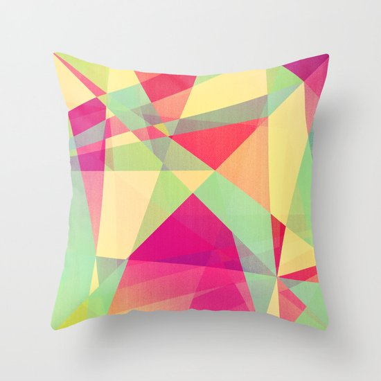 Summer Abstract Throw Pillow