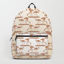 Gold Leaf Flamingos Backpack