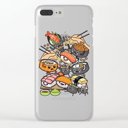 Sushi Party Clear iPhone Case