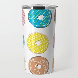 Donut - Doughnut - Bagel - Pattern Travel Mug