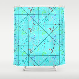 Motif bleu Shower Curtain
