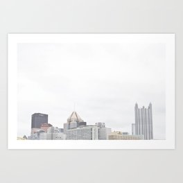 Skyline of Pittsburgh from the North Side Art Print