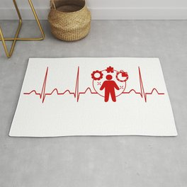 Project Manager Heartbeat Rug