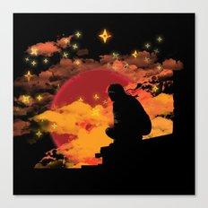 NINJA NIGHT SHOWDOWN Canvas Print