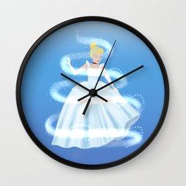Cinderella Magic - Blue Wall Clock