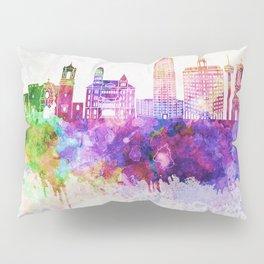 San Antonio skyline in watercolor background Pillow Sham