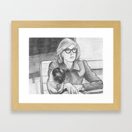 Good Cat's Daydreams Sometimes Involve Helping Diane Lockhart on Her Latest Pro-Bono Case Framed Art Print