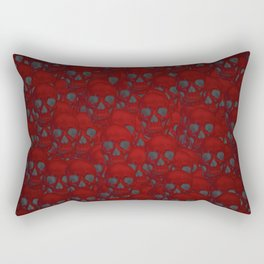 Subtle skull wall red Rectangular Pillow