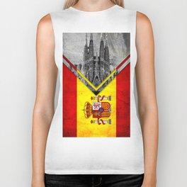 Flags - Spain Biker Tank