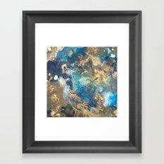 Color Commentary #10: Teal & Gold [Kat Meredith] Framed Art Print