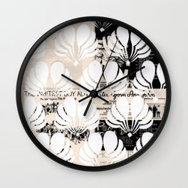 Newspaper Floral Cut Out Wall Clock