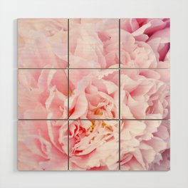 Peony Flower Photography, Pink Peony Floral Art Print Nursery Decor A happy life - Peonies 3 Wood Wall Art
