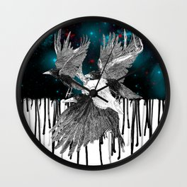 Galaxy Raven Wall Clock