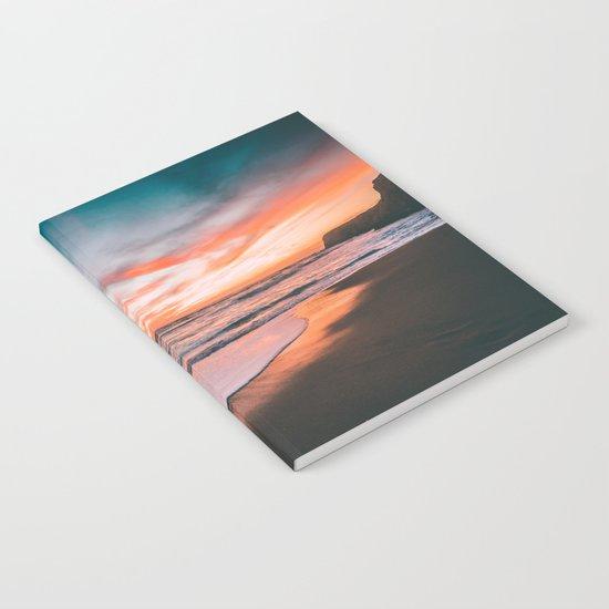 Sunset sky sea Notebook