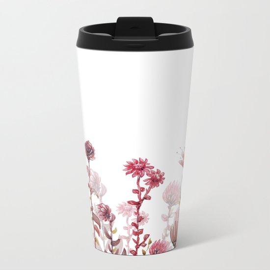 flowers 4 Metal Travel Mug