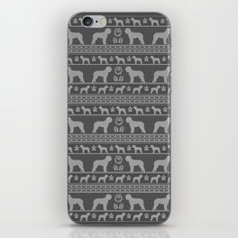 Ugly Christmas sweater   Lagotto Romagnolo grey iPhone Skin