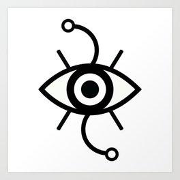 Wondering Eye (Black) Art Print