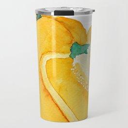 yellow bell pepper watercolor Travel Mug