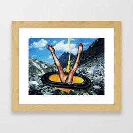 Golden Power   Collage Framed Art Print