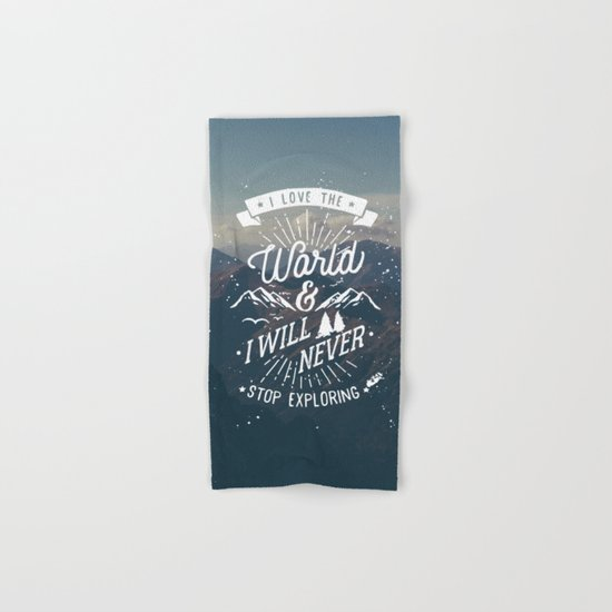Inspirational Quote and Blue Mountains II Hand & Bath Towel
