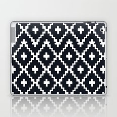 southwest diamonds _ black on white Laptop & iPad Skin