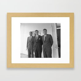 The Kennedy Brothers -- John, Robert, And Ted Framed Art Print