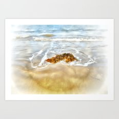 WASHED AWAY TO THE SEA Art Print