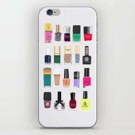 My nail polish collection art print iPhone Skin