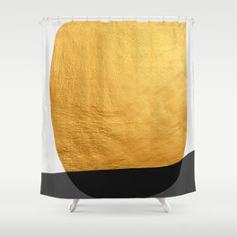 Conceptual and golden IV Shower Curtain