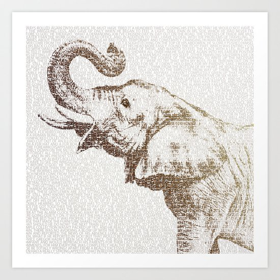 The Wisest Elephant Art Print