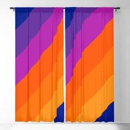 Simple Stripes - Sapphire Blackout Curtain