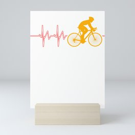 Cycling Heartbeat Bicycle Cylist Bicycling Exercise Workout Gift Mini Art Print