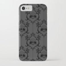 Halloween Damask Grey iPhone 7 Slim Case