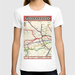 Vintage London Underground Railways T-shirt