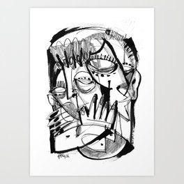 Here for Each Other - b&w Art Print