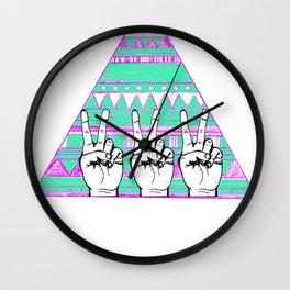 Ten Thousand Hands Wall Clock
